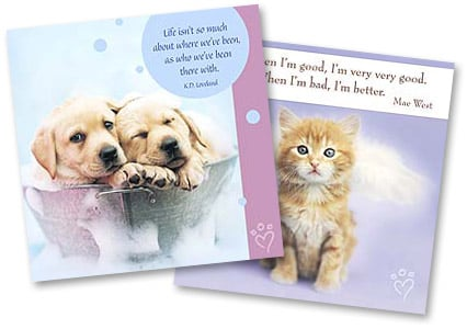 Cat Greeting Cards and Dog Greeting Cards   from Leanin' Tree